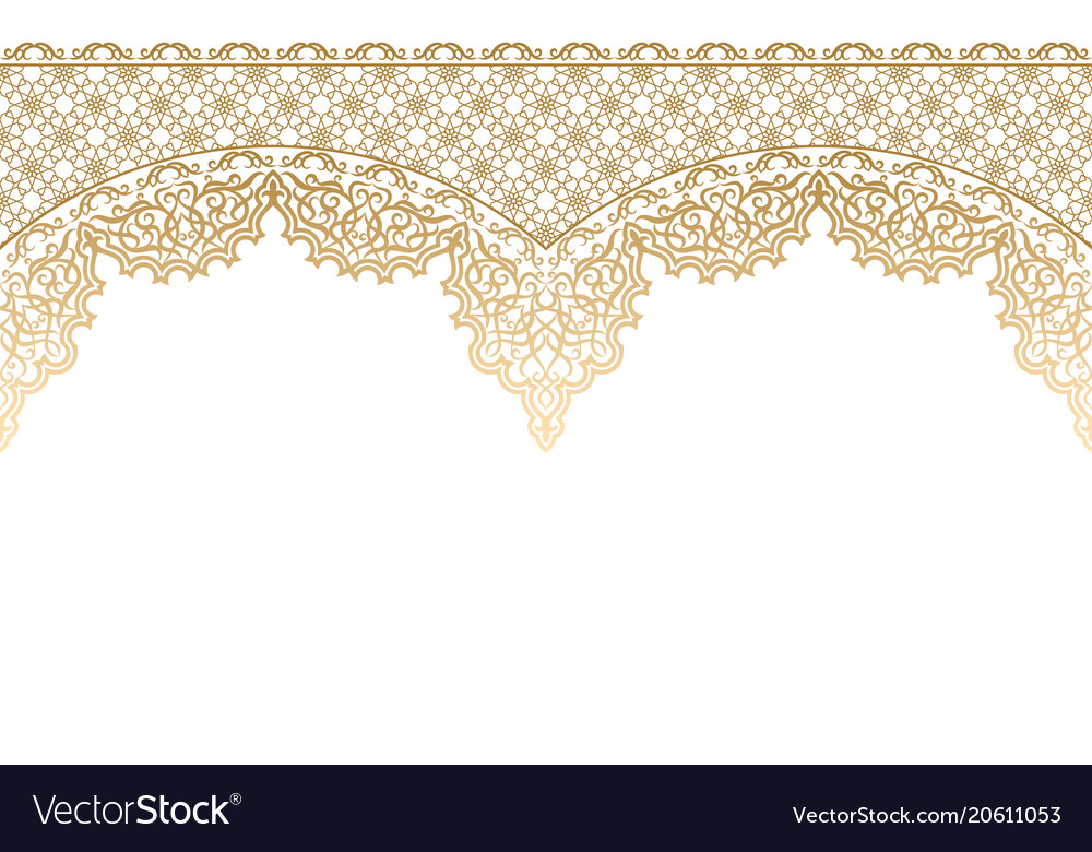 Seamless horizontal islamic pattern vector image