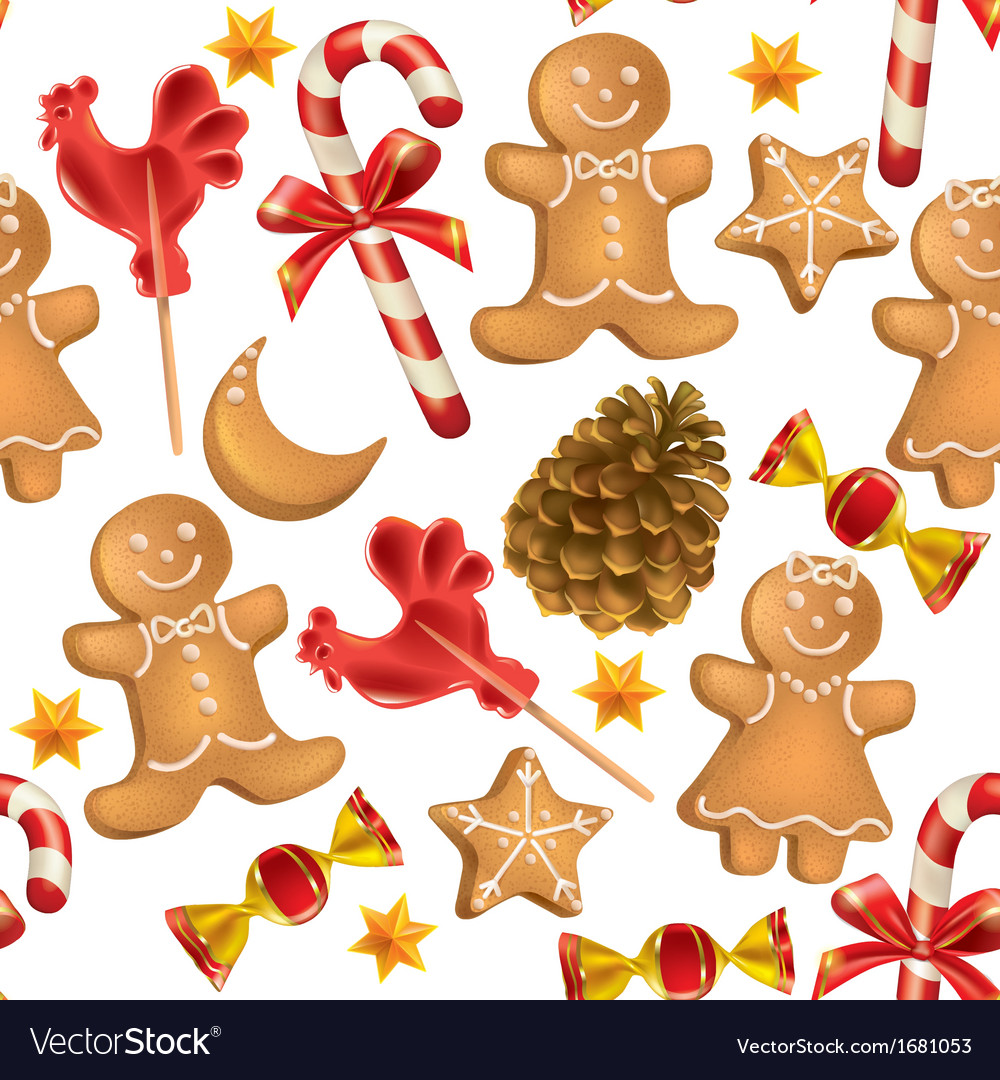Christmas Sweets.Seamless Pattern Of Christmas Sweets