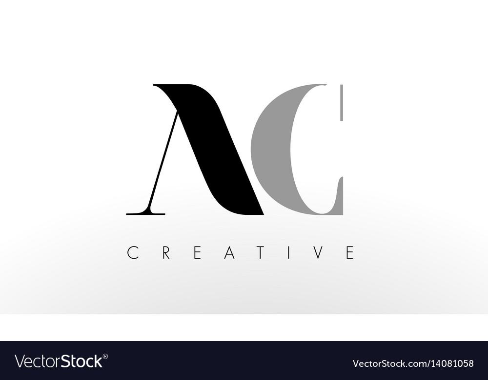 A c letter logo design creative ac letters icon Vector Image
