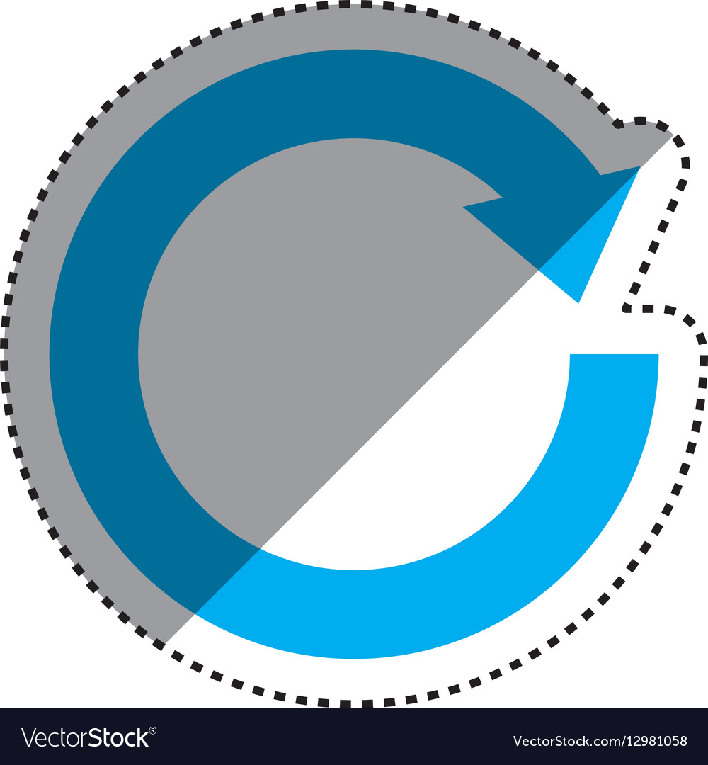 Arrows round cycle vector image