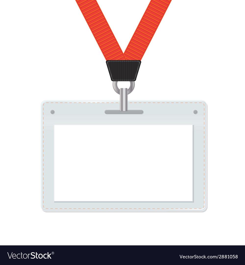 Badge with orange lace on white background