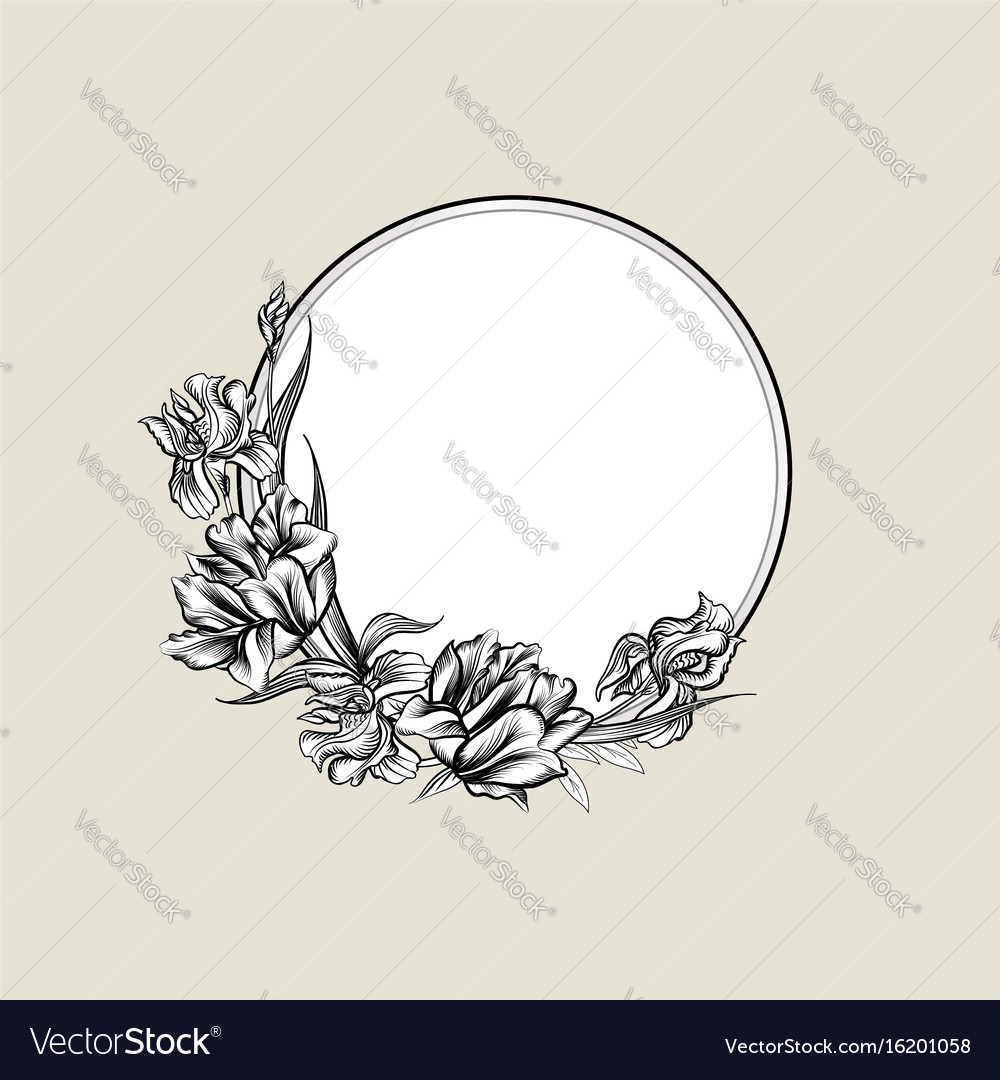 Floral frame background flower bouquet cover