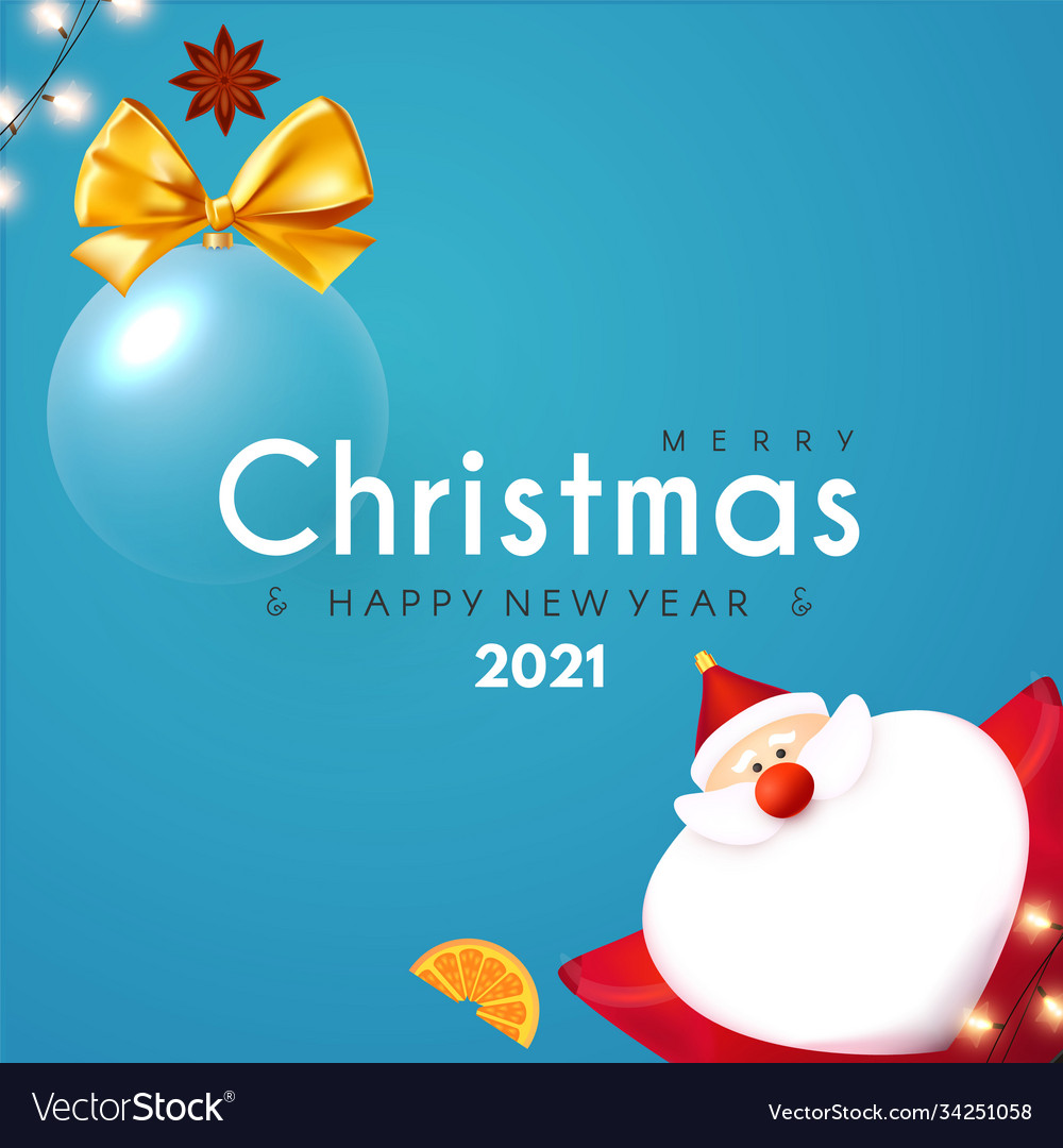 Merry christmas and happy new 2021 year design
