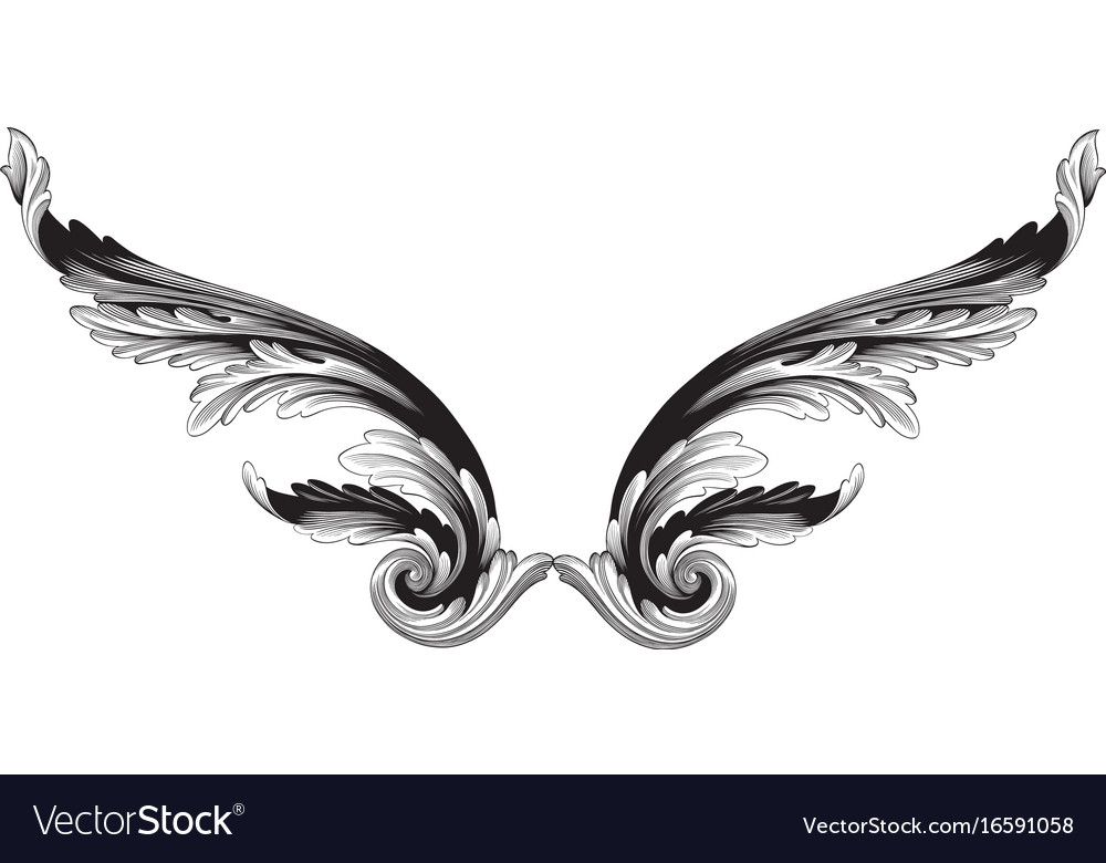 ornament in baroque style for filigree royalty free vector