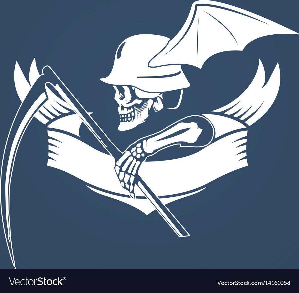 Skeleton with spit