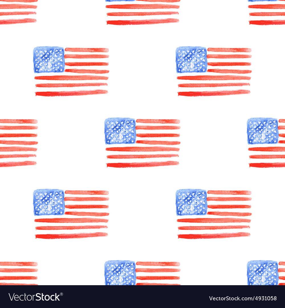 Sketch american flag in vintage style vector image