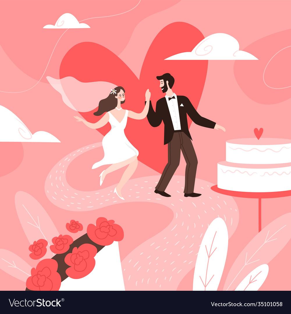 Wedding couple concept marriage ceremony groom