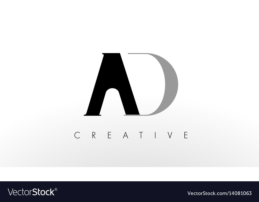 A d letter logo design creative ad letters icon vector image thecheapjerseys Image collections