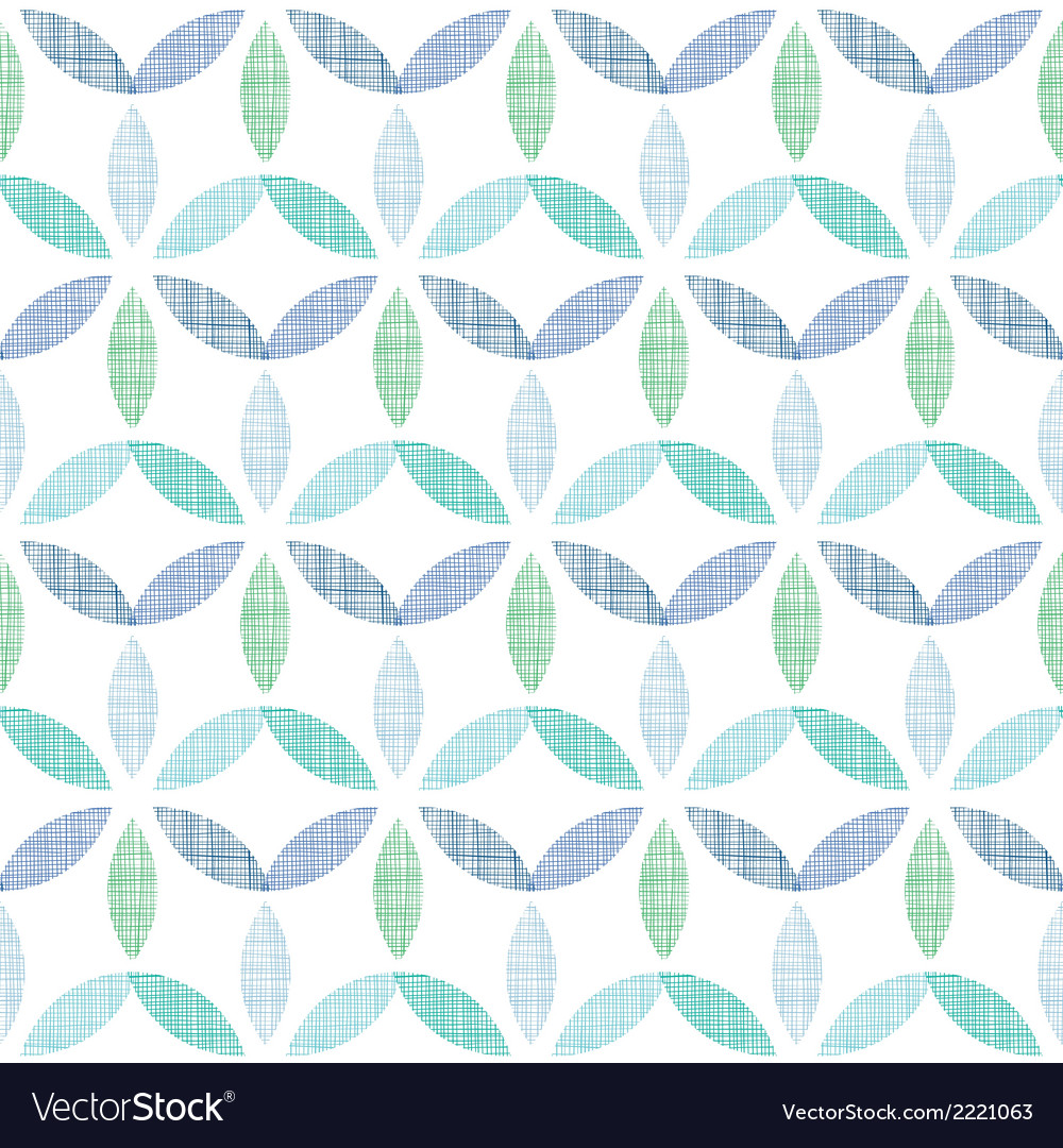 Abstract textile blue green leaves seamless