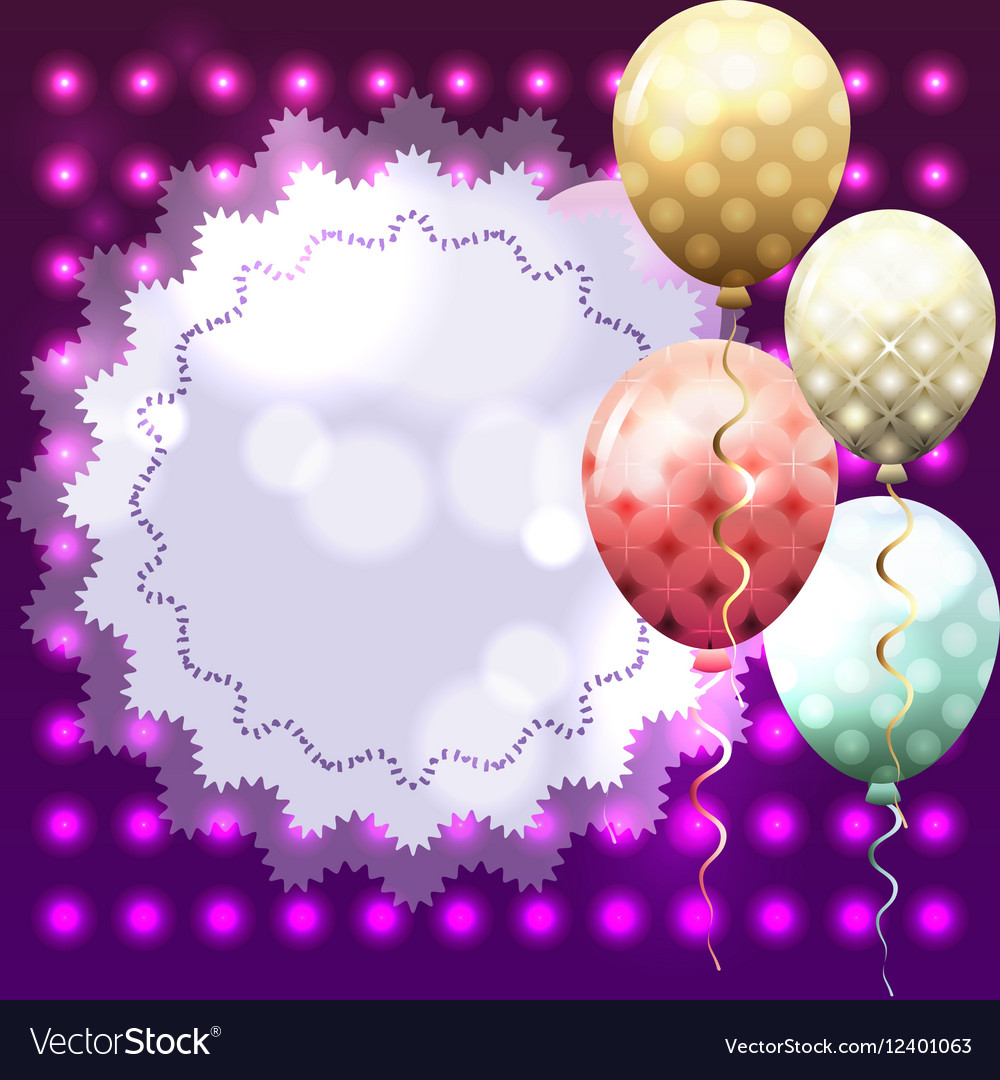 Colorful template for invitation birthday card vector image