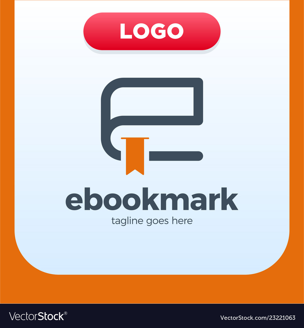Ebook letter initial e logo design template
