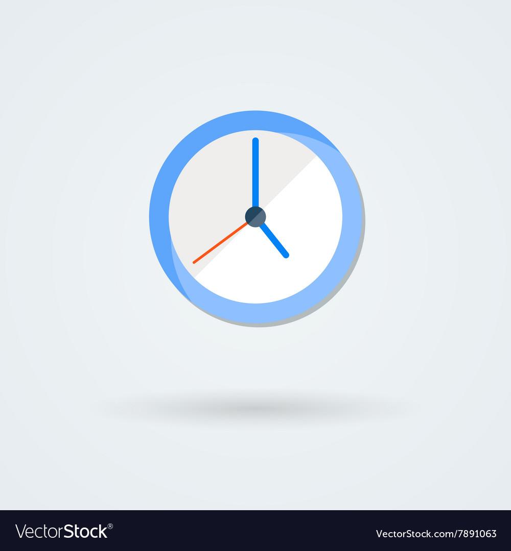 Flat clock icon Simple