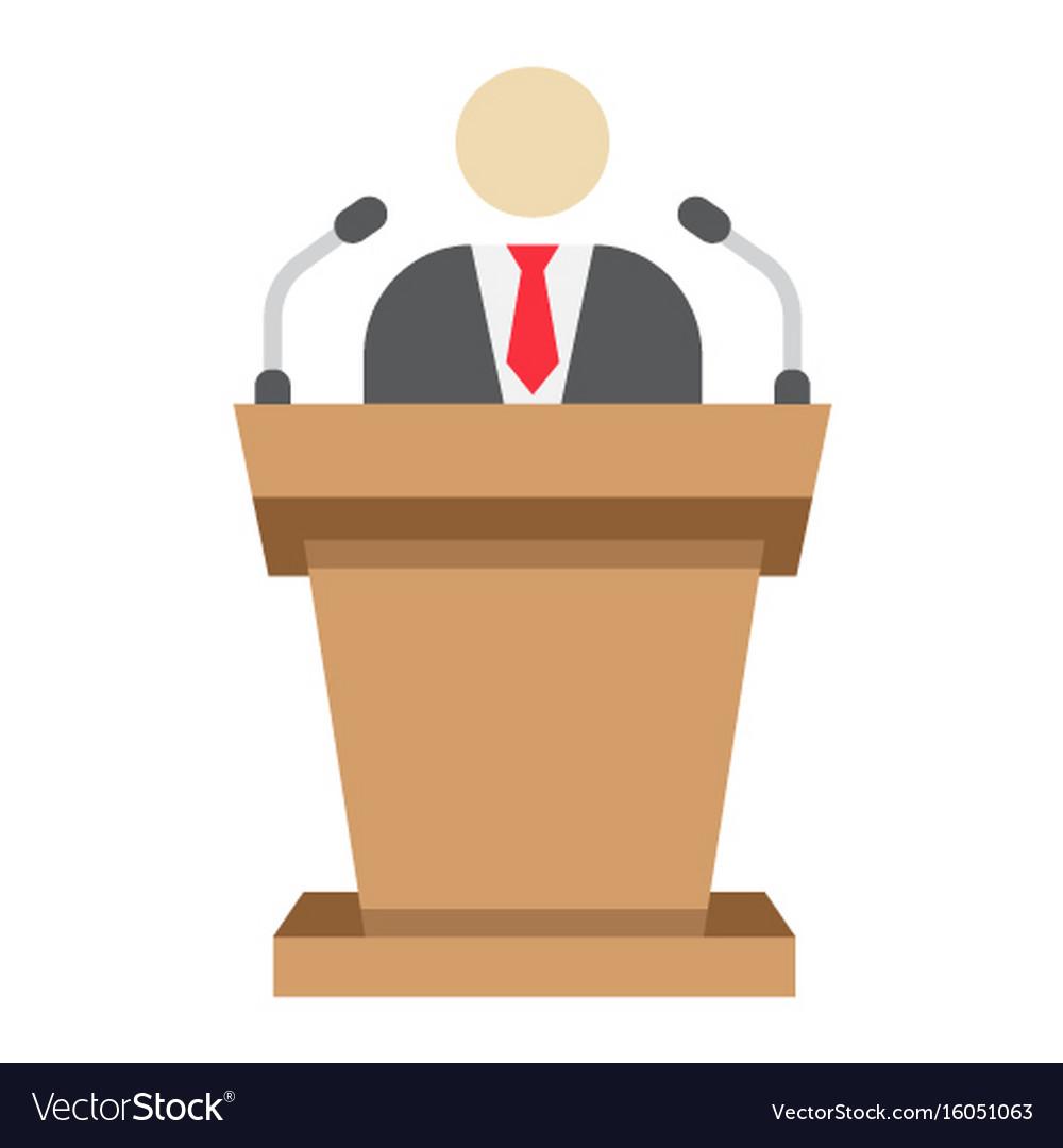 Speaker flat icon business and tribune