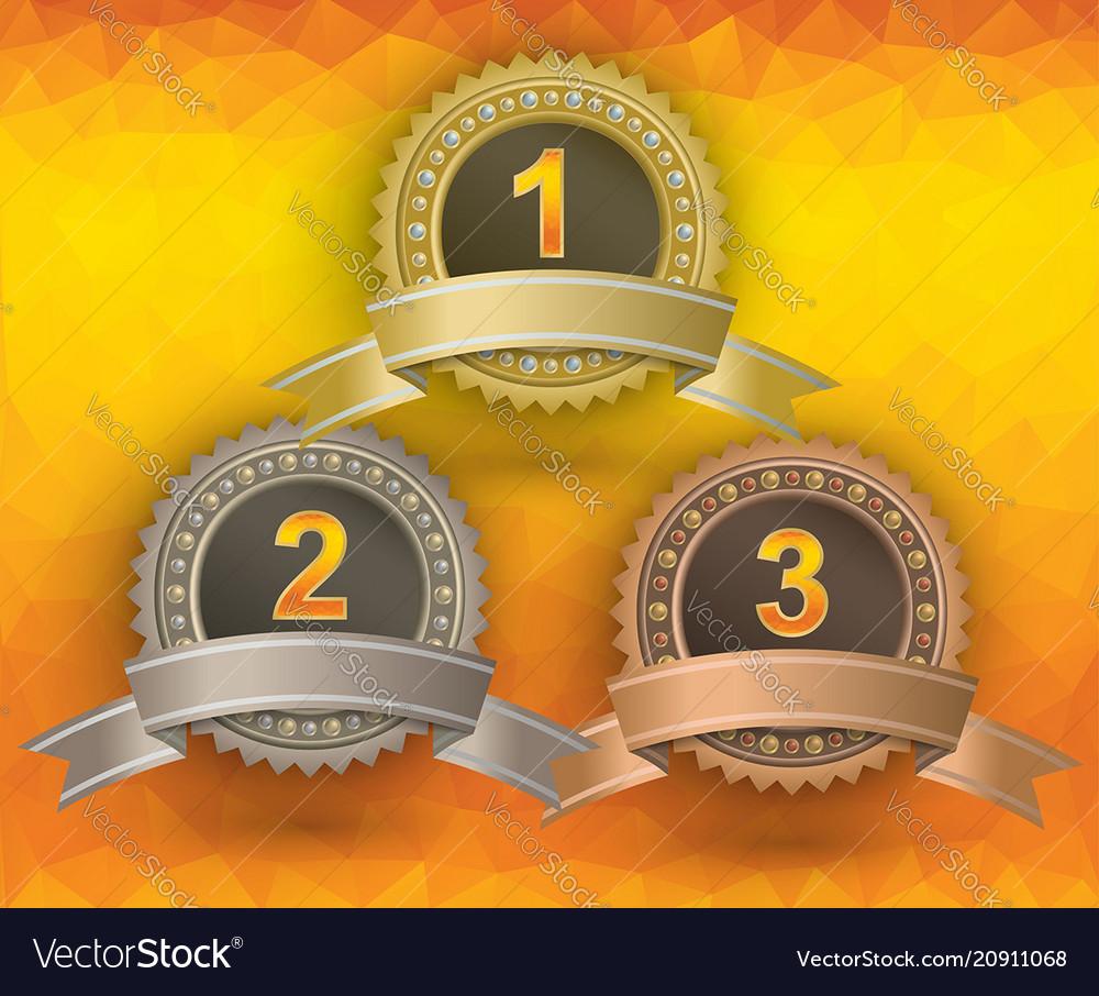 Awards on yellow background