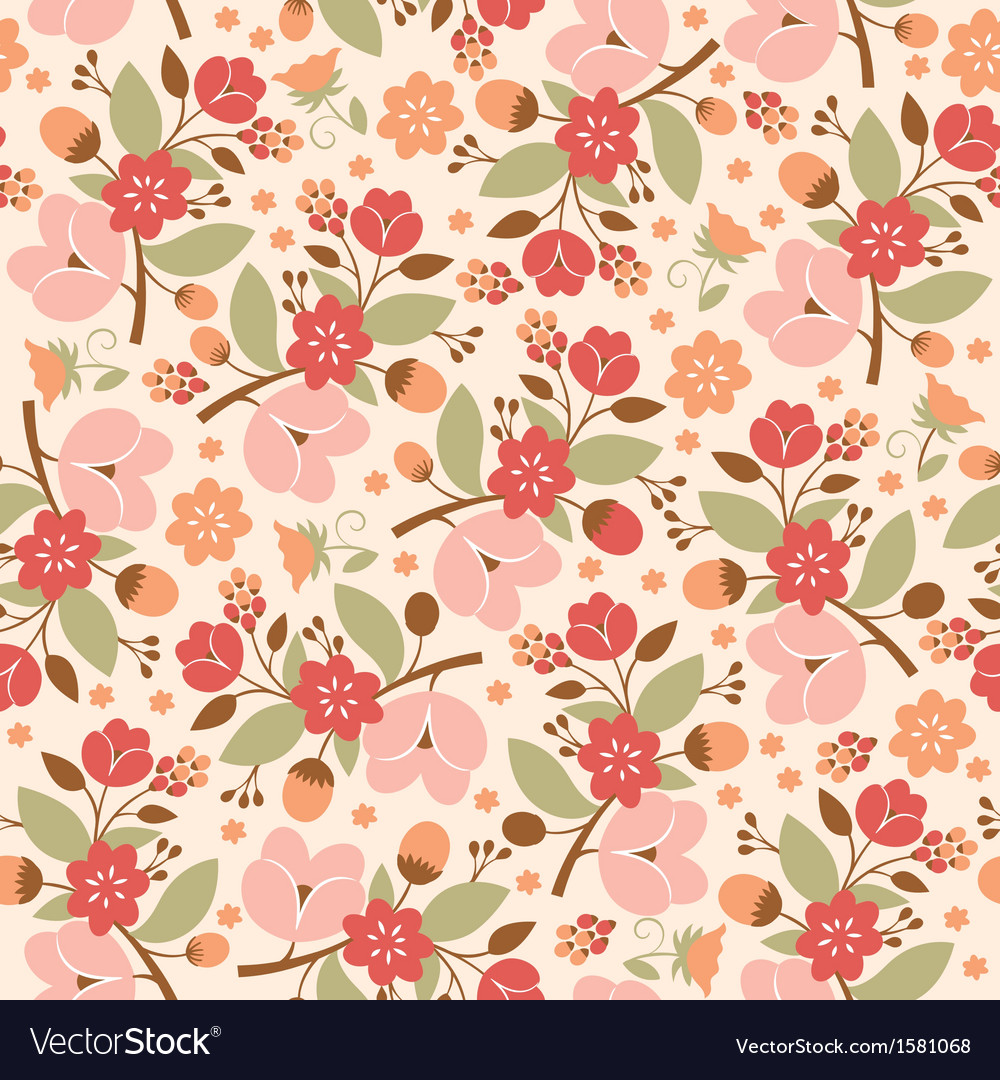 Beauty floral pattern