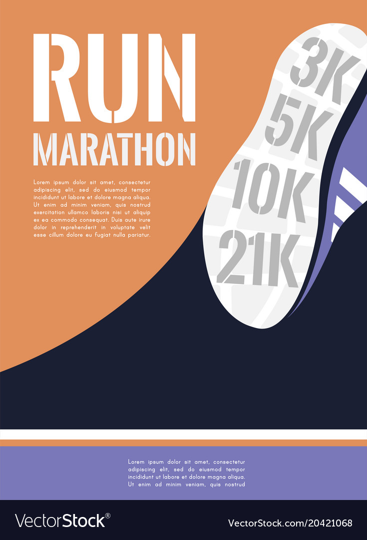 City running marathon athlete runner feet running vector image