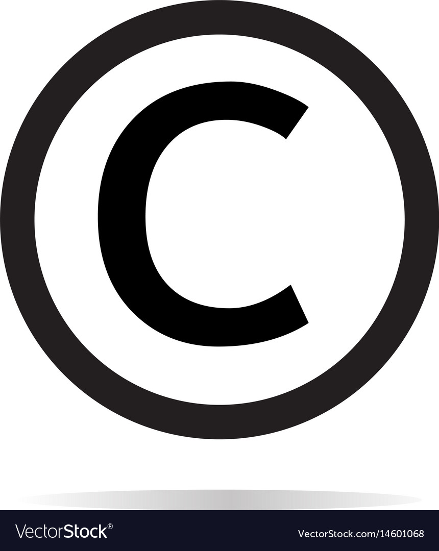 copyright icon on white background copyright sign vector image