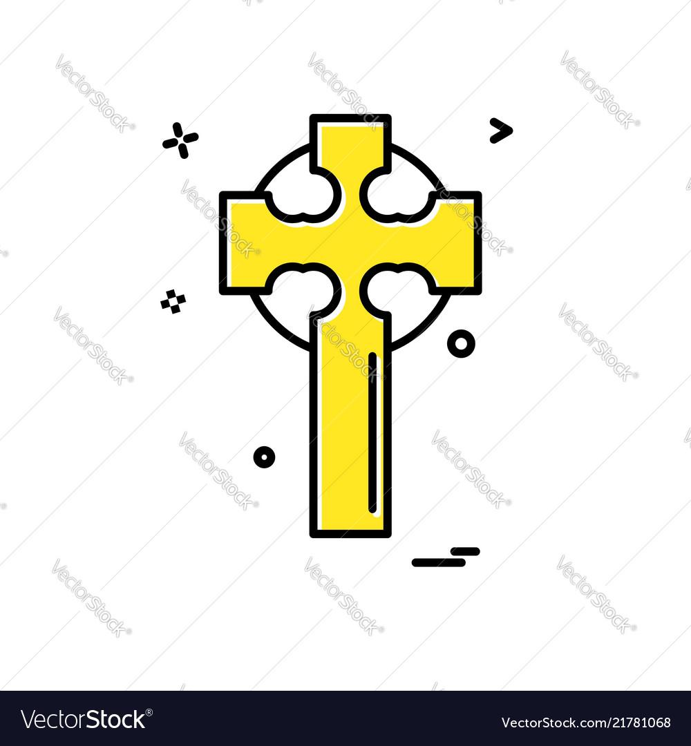 Cross icon design