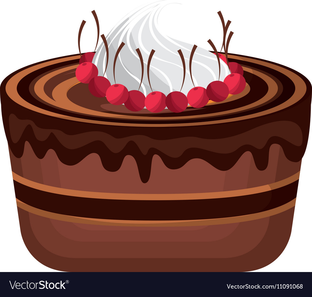 Delicious Sweet Cake Icon Royalty Free Vector Image