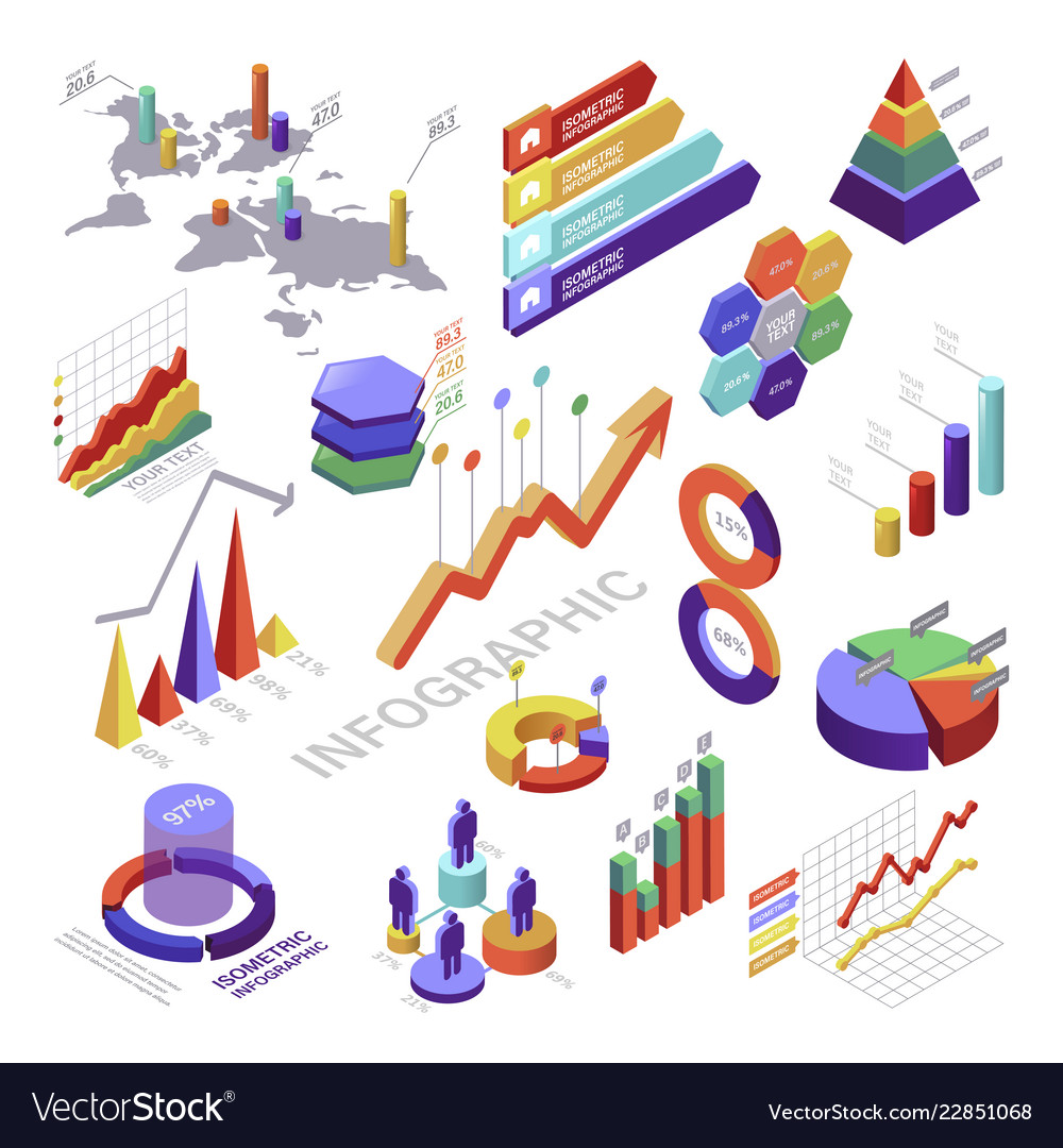 Infographic And Diagram Isometric Elements For Vector Image The Purpose Of An Is To