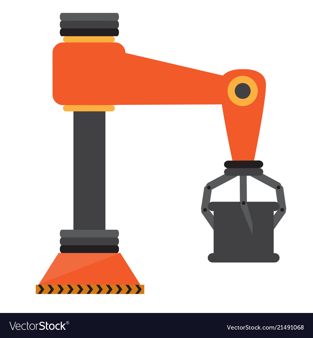 Isolated industrial robot arm icon vector image on VectorStock