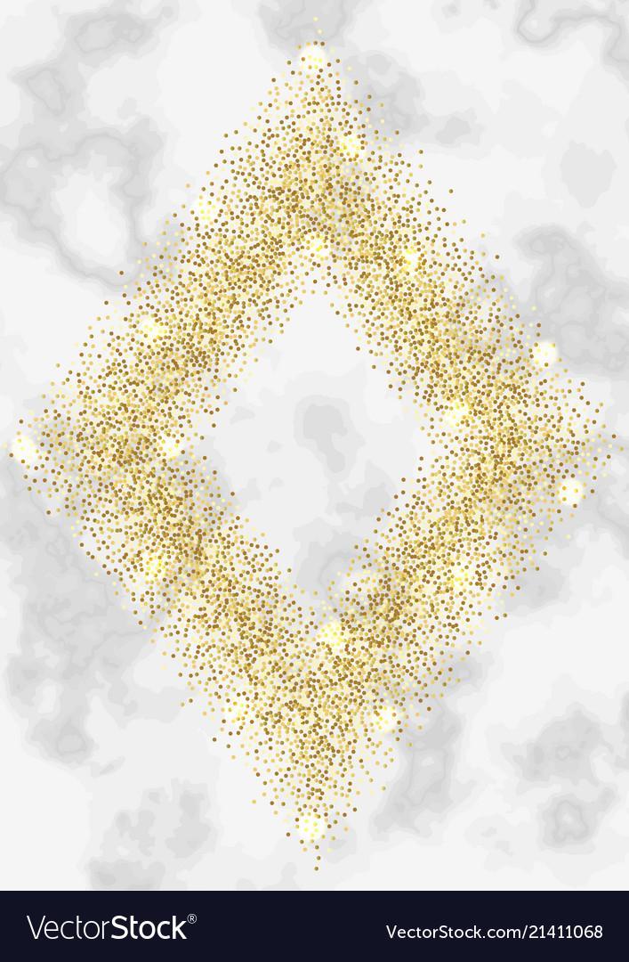 Luxury gold glitter frame