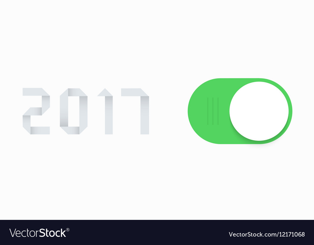 Modern concept 2017 new year and slider vector image