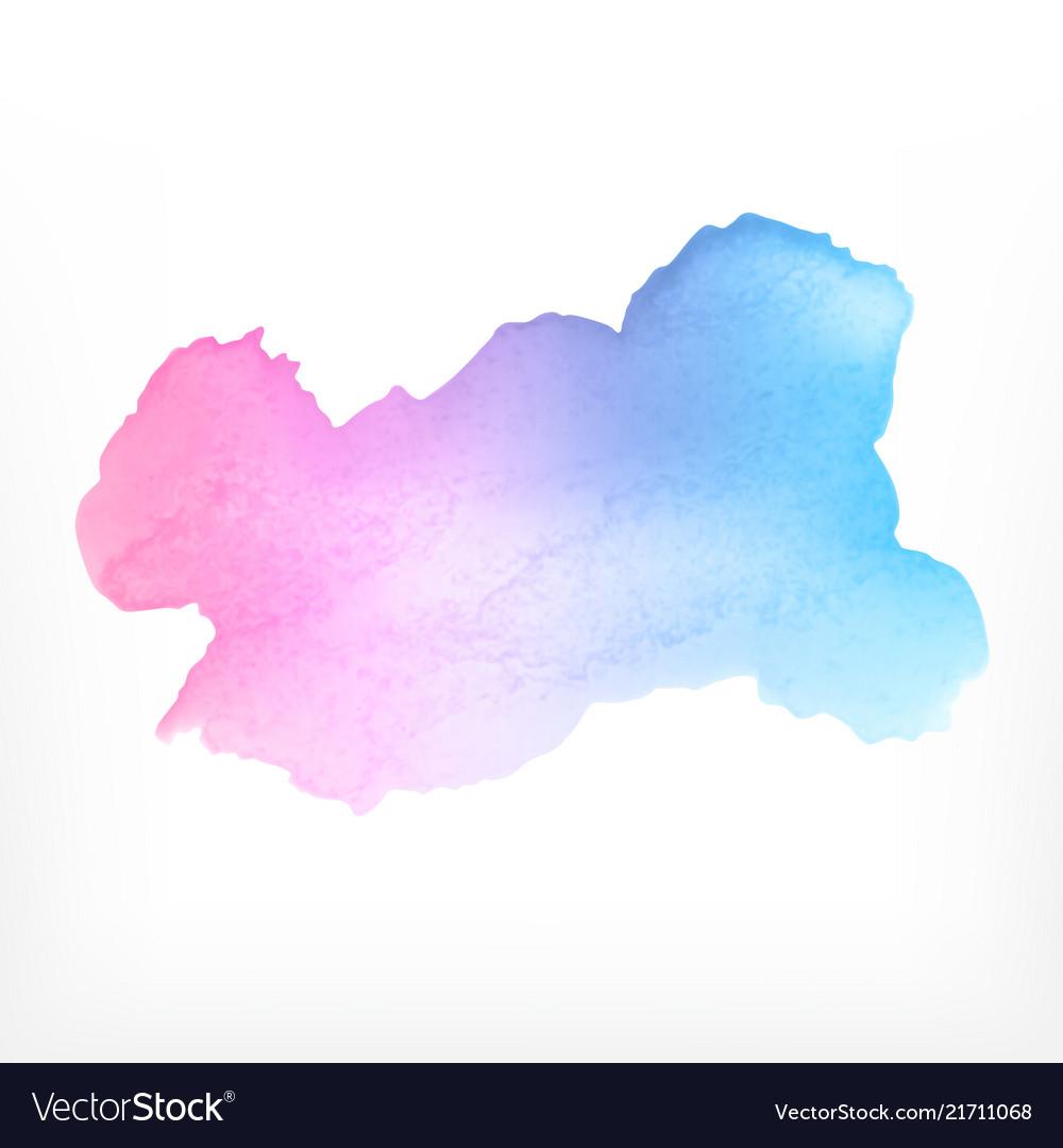 Watercolor background watercolor splash on white