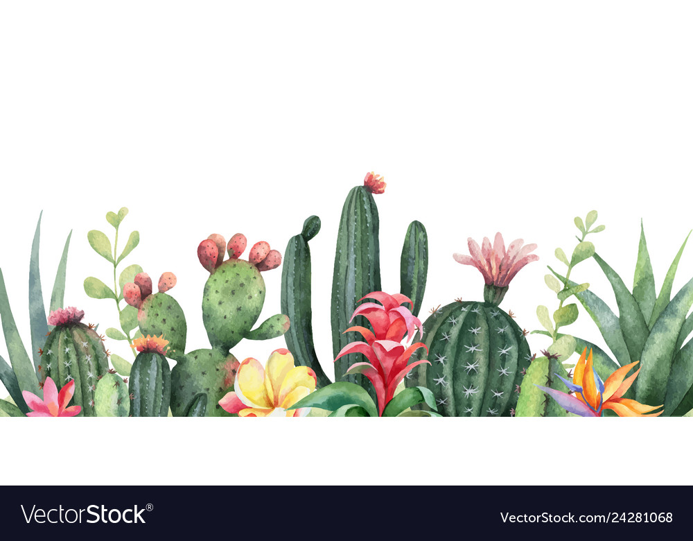 Watercolor Banner Tropical Flowers And Royalty Free Vector Tropical leaves stock photos tropical leaves stock illustrations. vectorstock