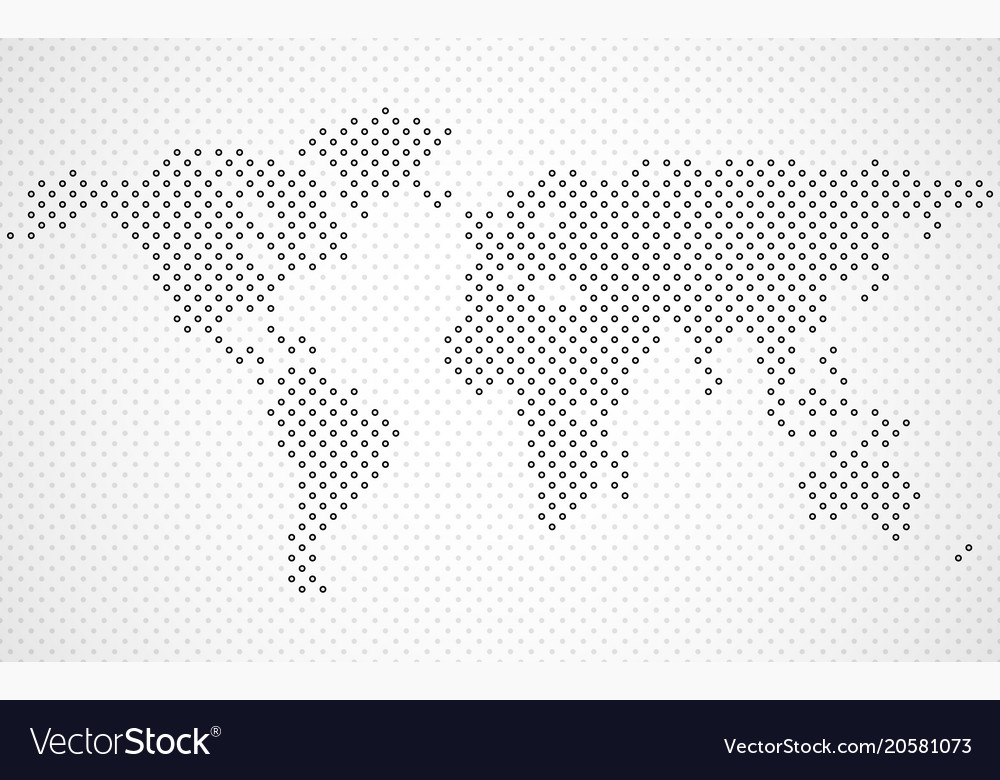 Abstract halftone world map royalty free vector image abstract halftone world map vector image gumiabroncs Image collections