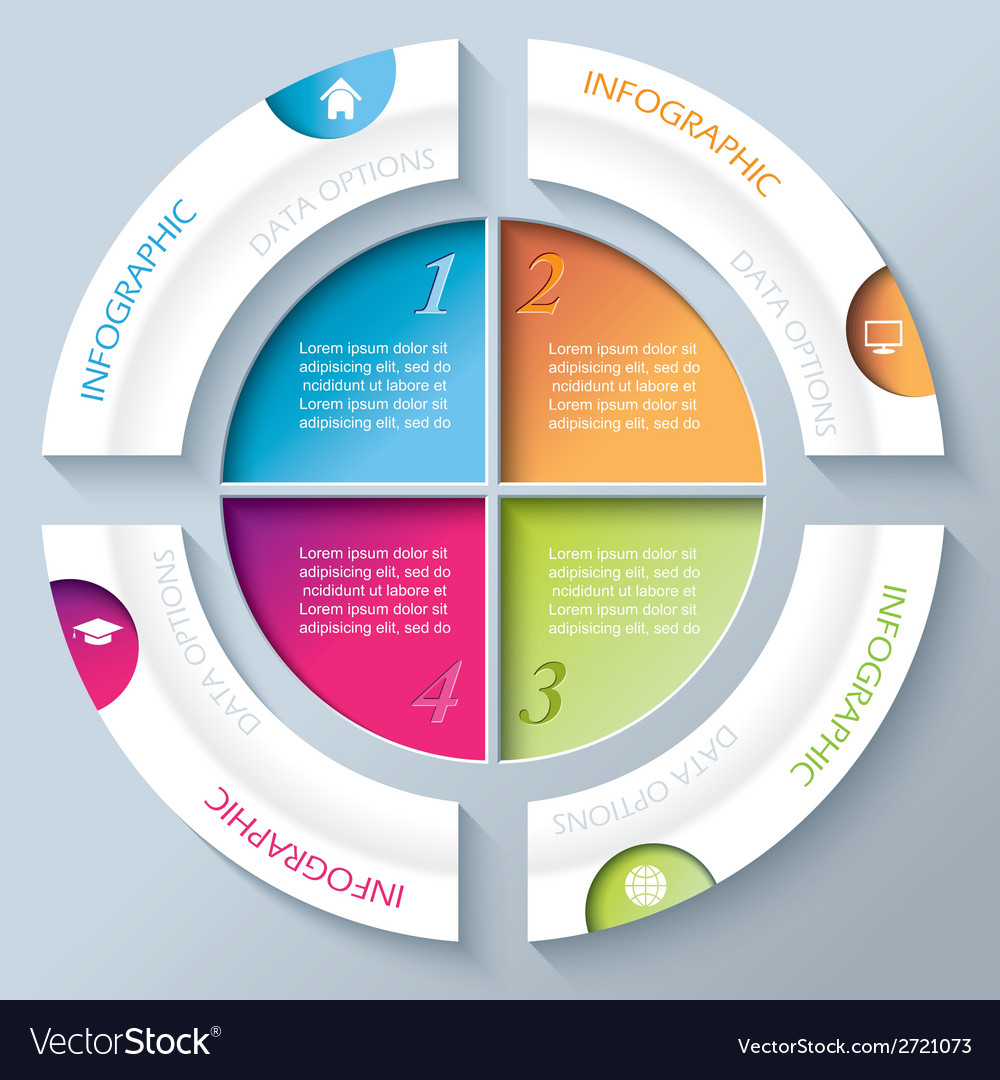 Abstract infographic design with circle