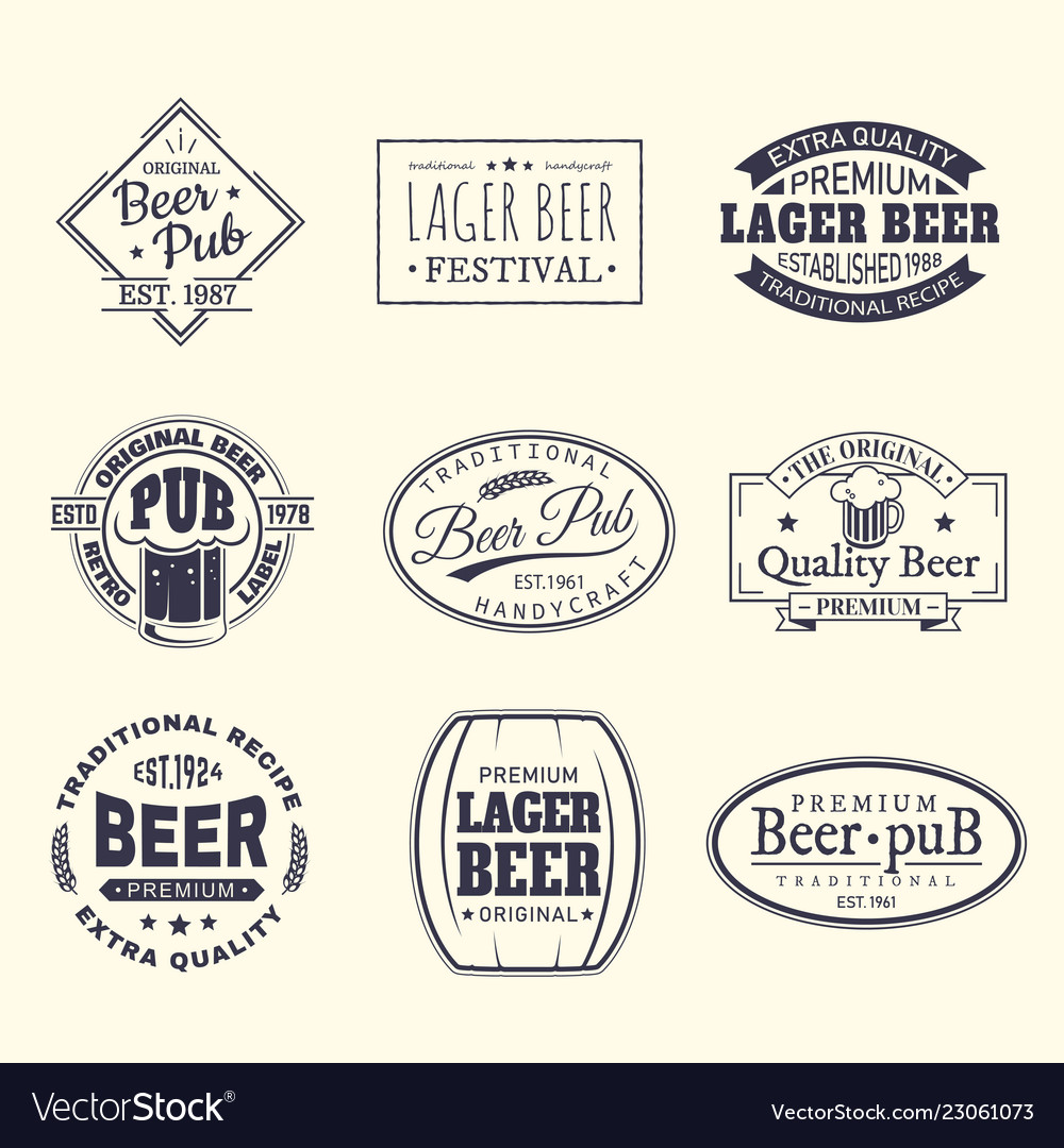 Beer labels and stickers beermat and coaster