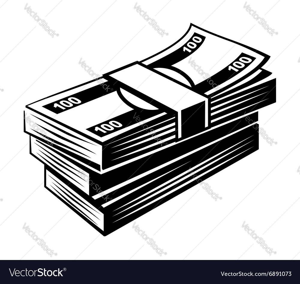 Black Money vector image