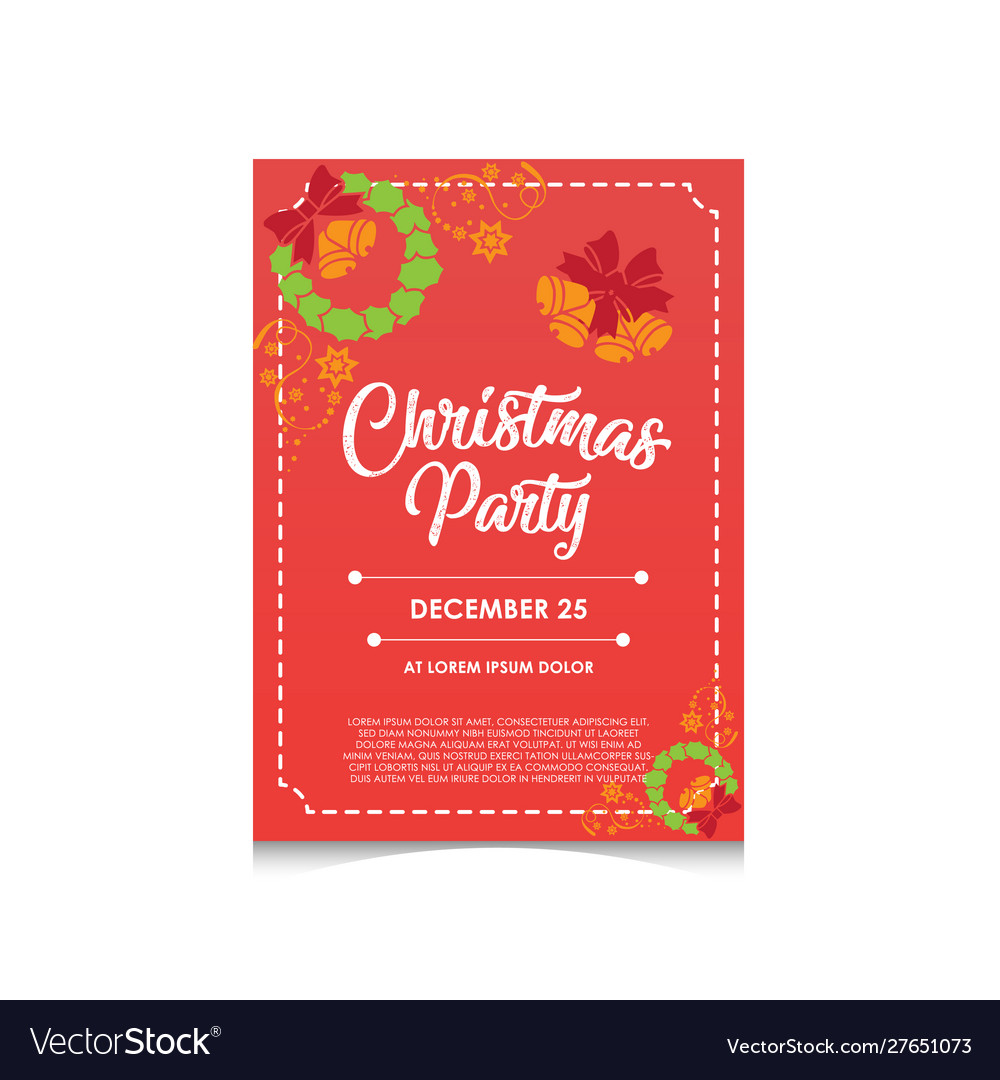 Christmas Party Invitation Editable Poster