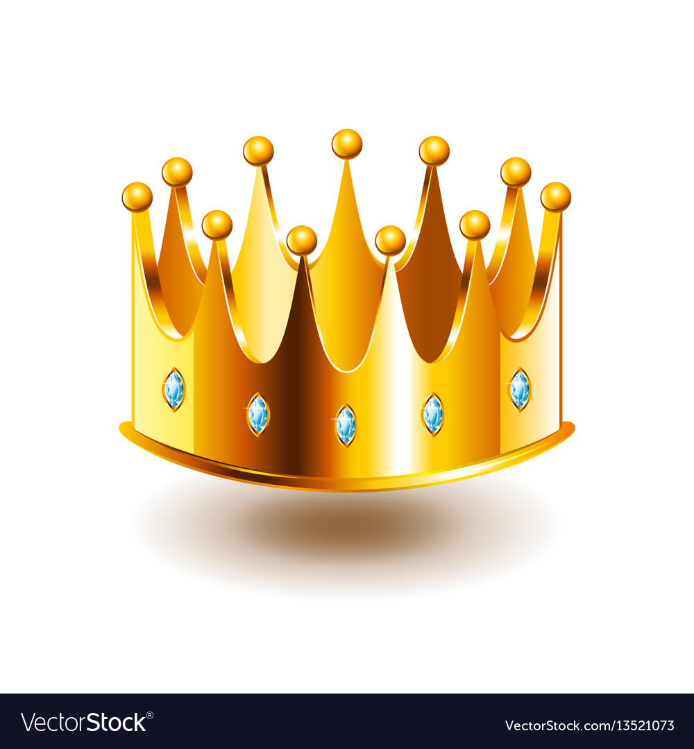Classic crown isolated on white