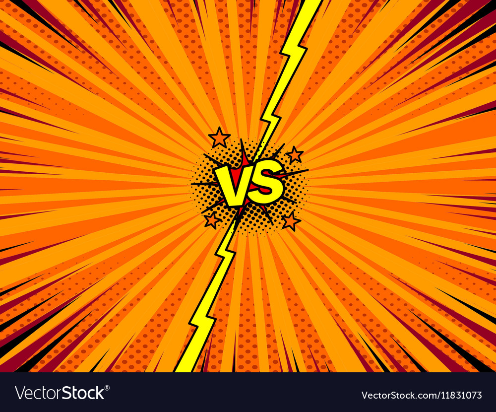 comic book versus template background royalty free vector