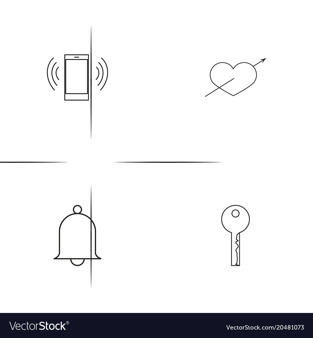 Internet of things simple linear icons set vector image ccuart Gallery