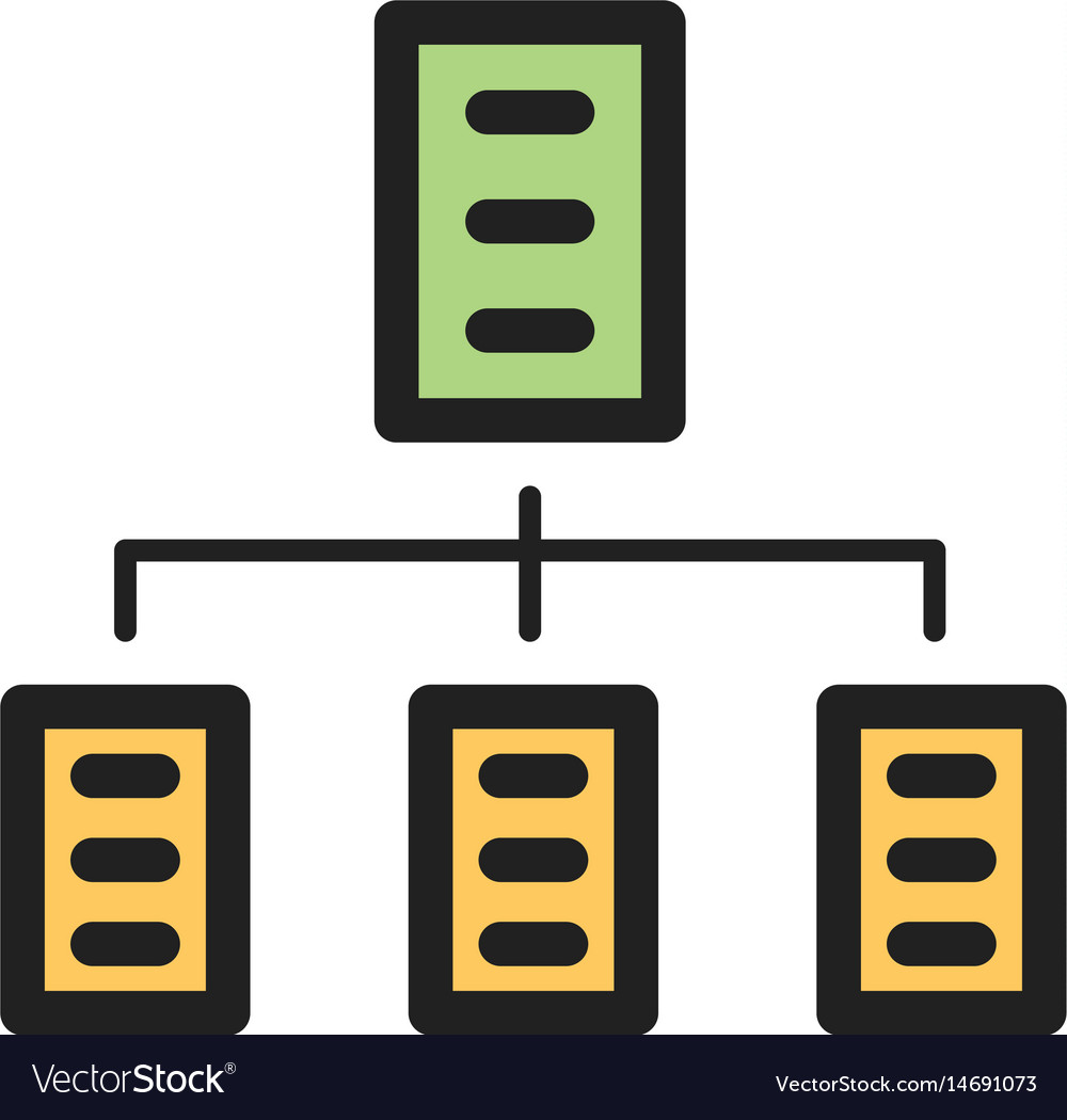 Organizations network vector image