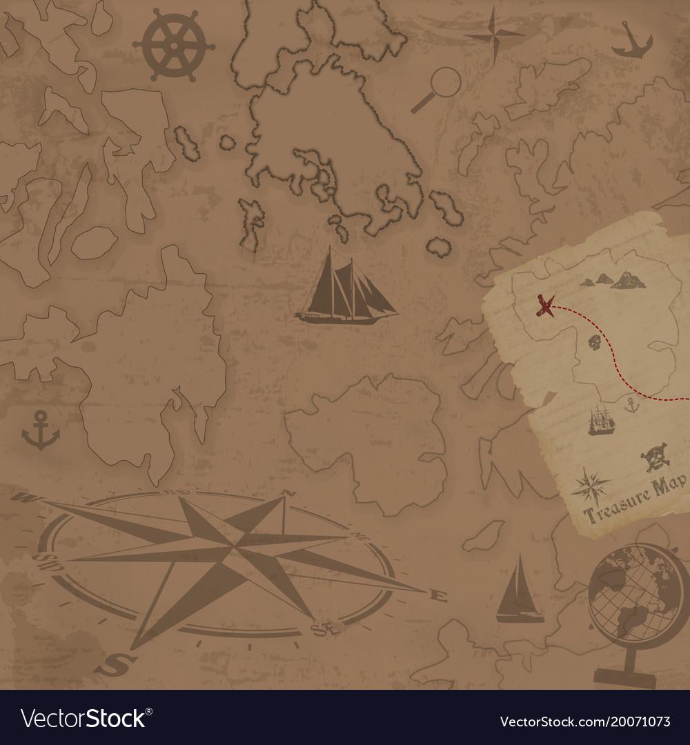 Retro style treasure map background