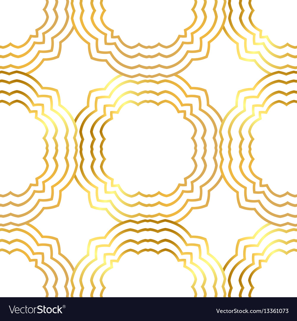 Seamless gold pattern with gold ornament