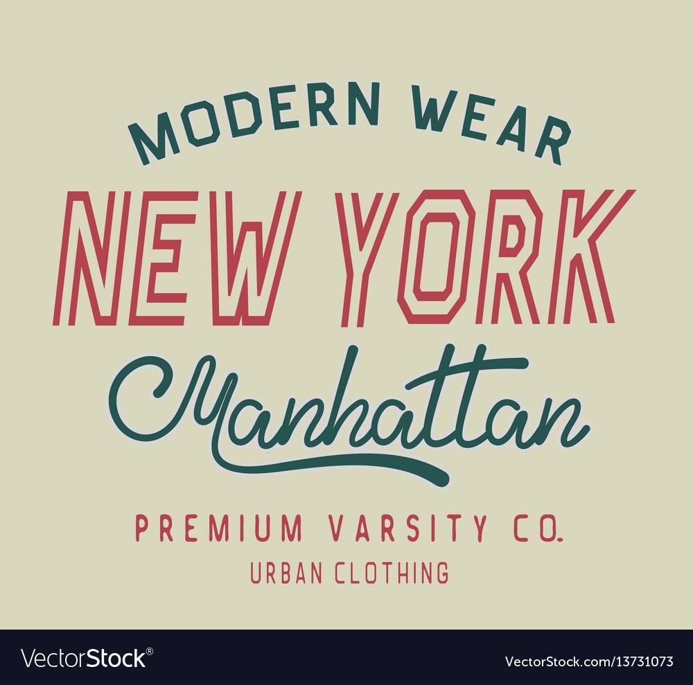 Typography new york label