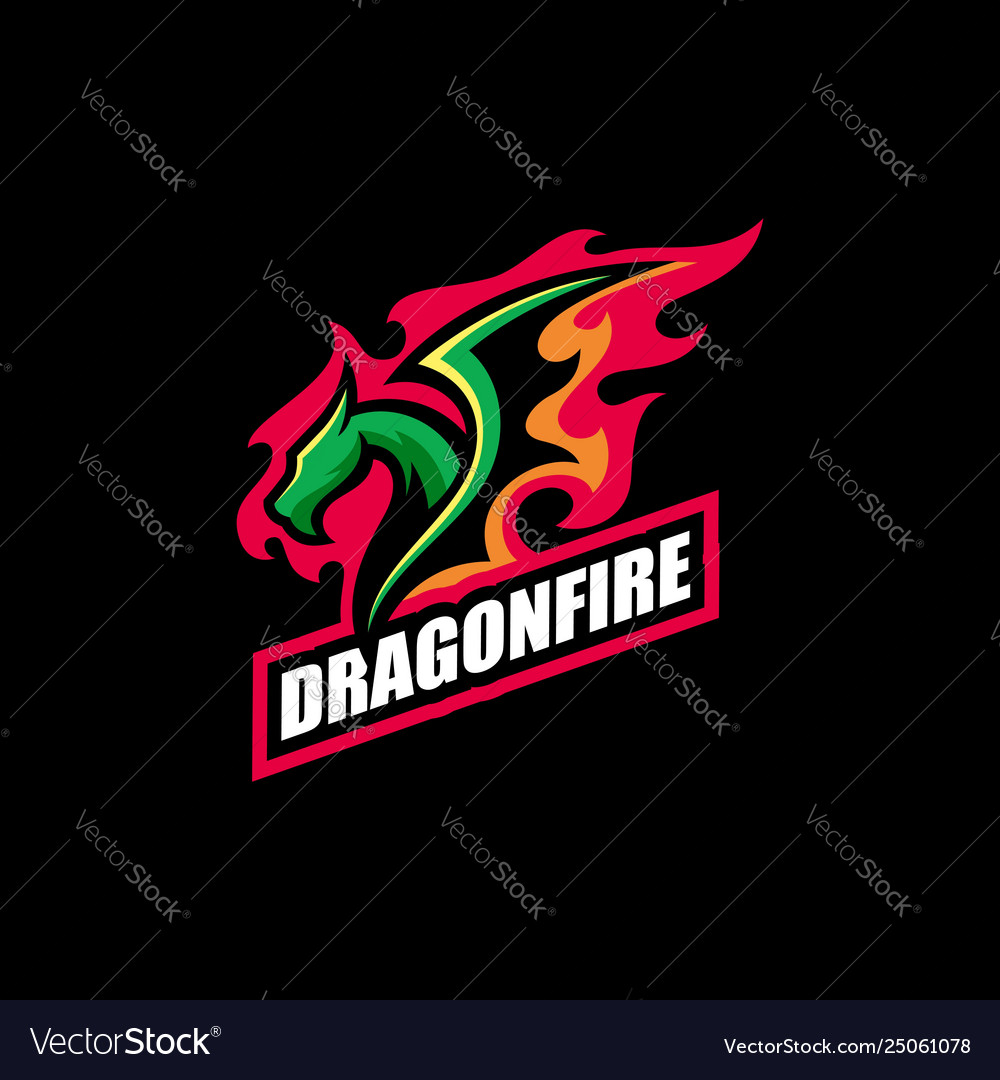 Abstract dragon fire design template
