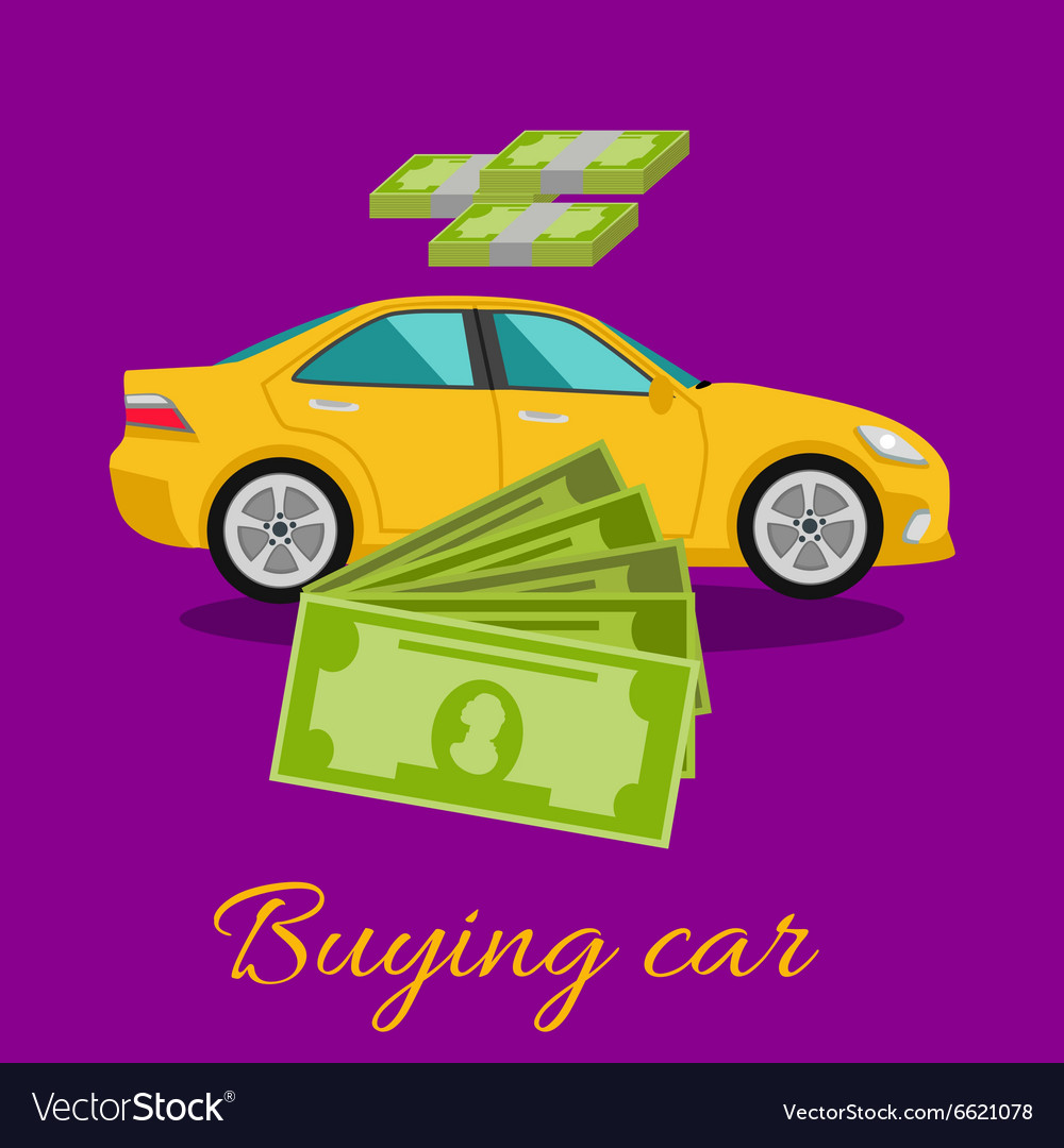 Buying Car Concept vector image