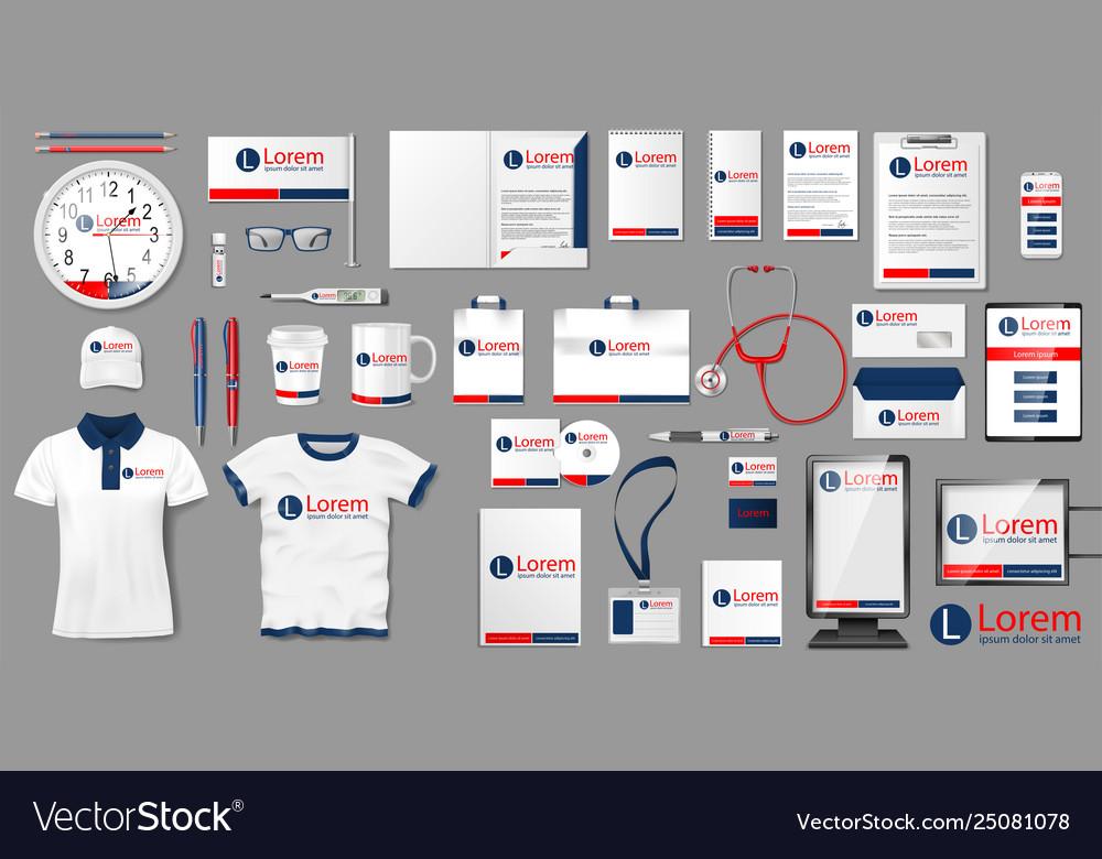 Corporate medical clinic branding identity