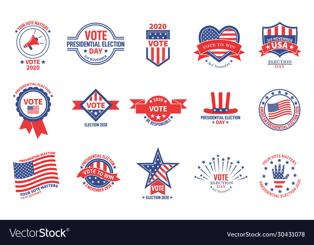 Election badges political campaign usa