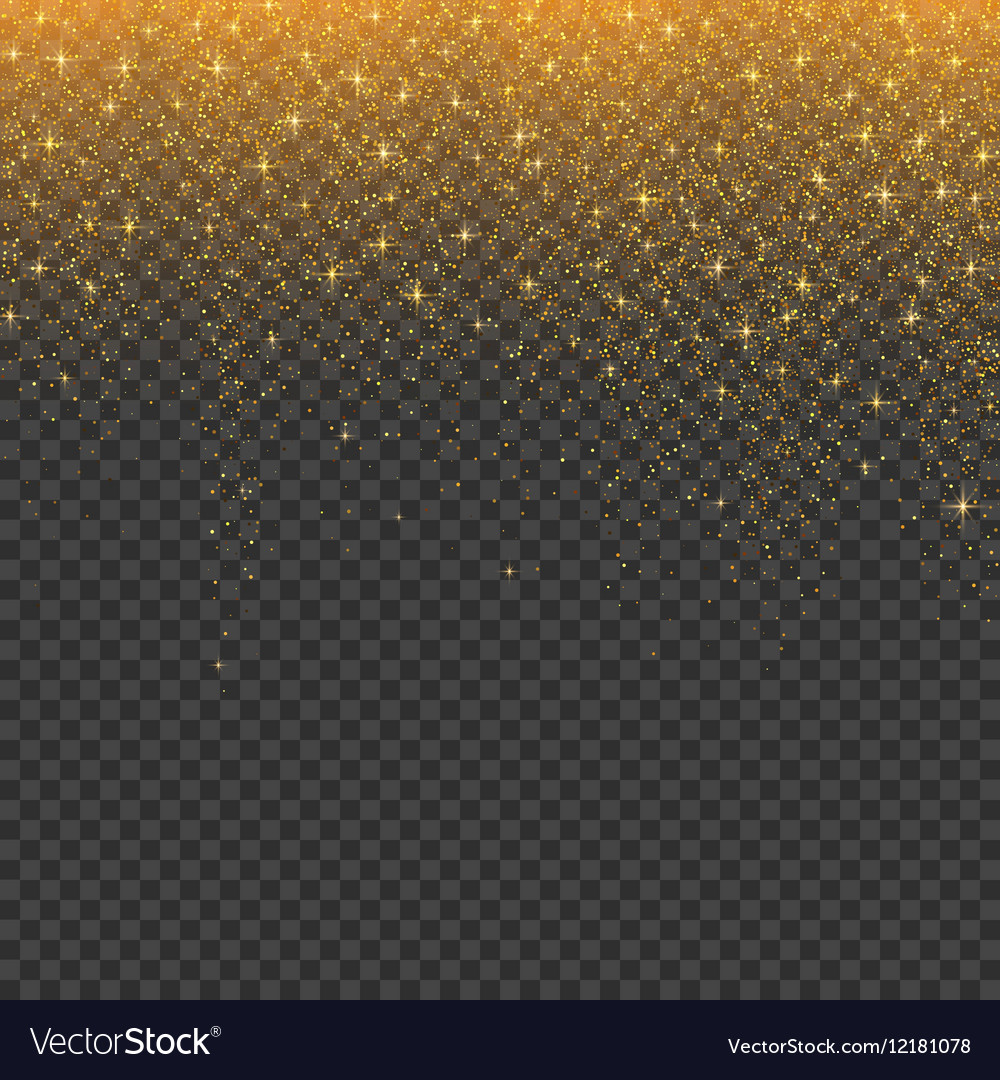 Gold glitter stardust christmas background vector image