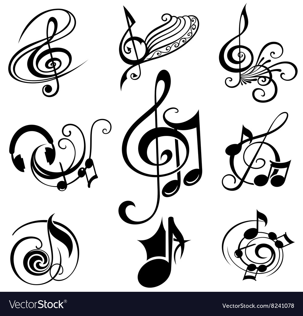 Musical Design Elements Set vector image