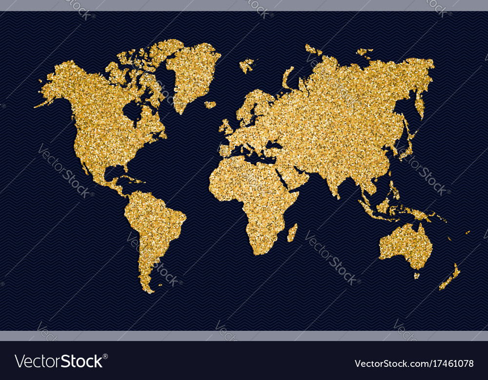 World map gold glitter art concept royalty free vector image world map gold glitter art concept vector image gumiabroncs Image collections
