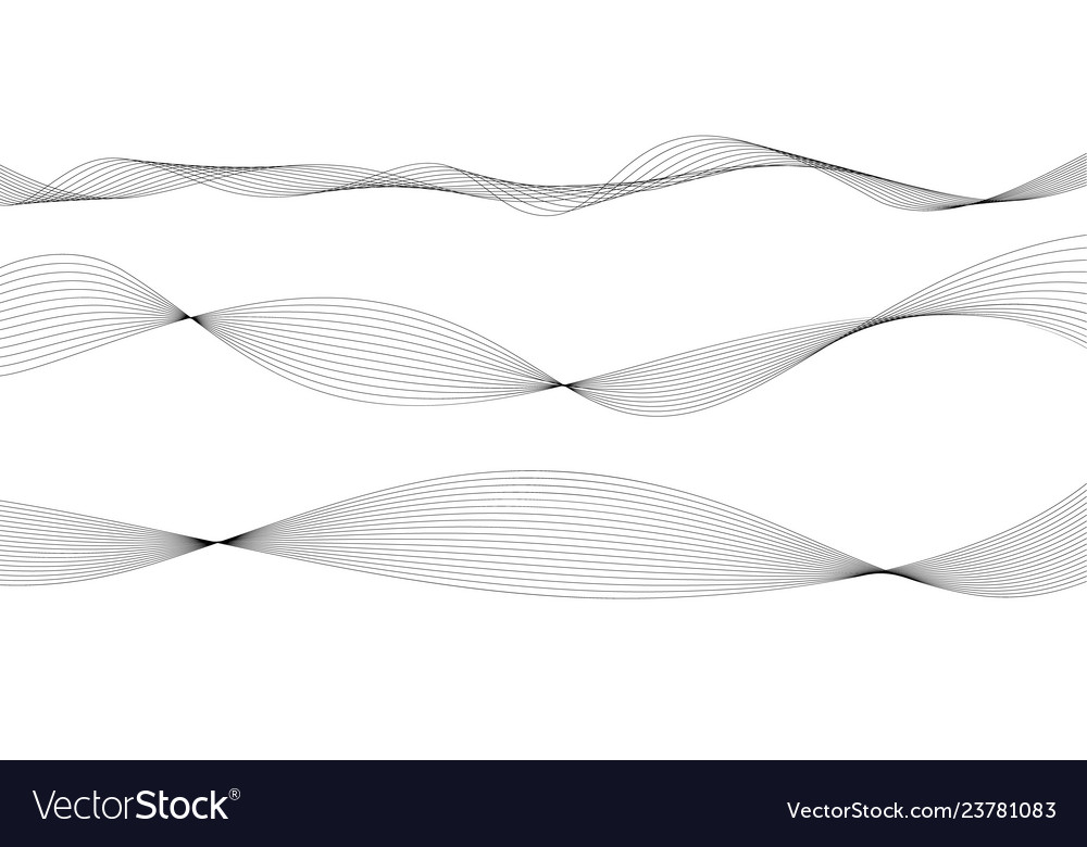 Abstract wave element for design digital