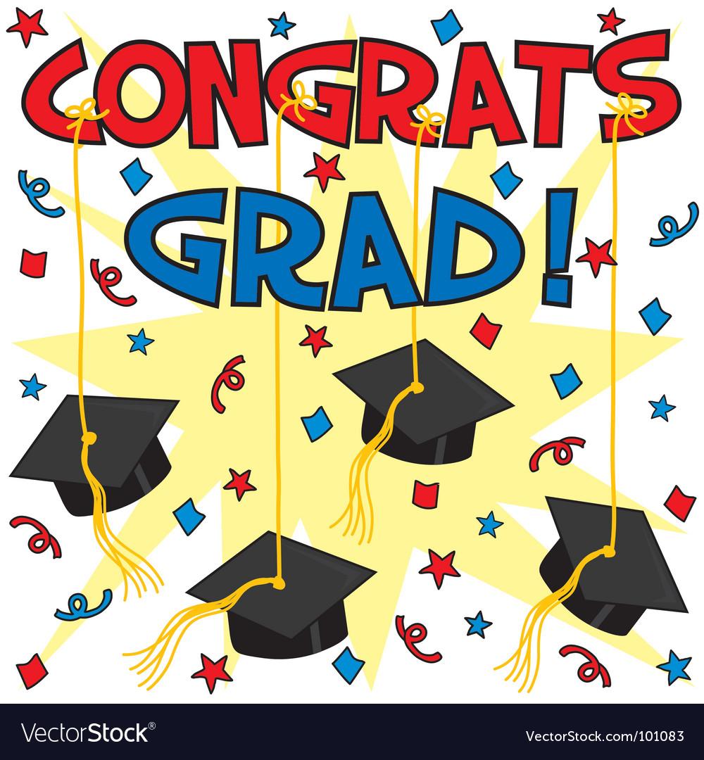 congrats grad royalty free vector image vectorstock